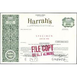 Harrah's Stock Certificate Assortment