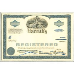 Harrah's Registered Bond Unique Production File wi