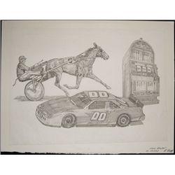 """U.S. Original Artwork of """"Dover Downs"""" Vignette Us"""