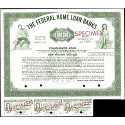 Federal Home Loan Banks Specimen Bonds