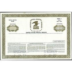 United States Postal Service Registered Bond,