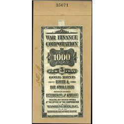 U.S. War Finance Corporation U.S. Federal Savings
