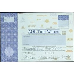 AOL and AOL Time Warner Stock Specimens (3),
