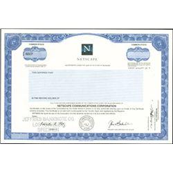 Netscape Stock Certificate,