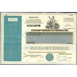 Citicorp Person-to-Person, Inc. Bond Production Fi