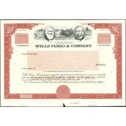 Wells Fargo & Co. Proof Stock Certificates (2),