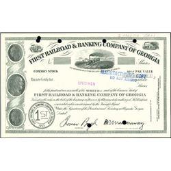 First Railroad & Banking Company of Georgia Certif