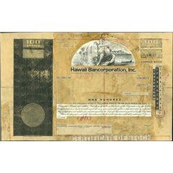 Hawaii Bancorporation, Inc. Stock Production File