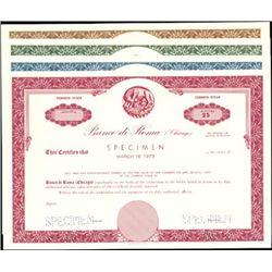 Banco di Roma (Chicago) Specimen Group,