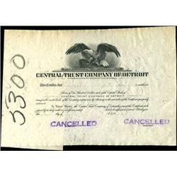 Michigan Bank Stock Certificate Proofs
