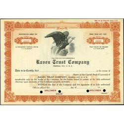 """Raven Trust Company Stocks """"China Trade Act, 1922"""""""