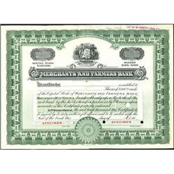 Merchants and Farmers Bank Stock - Montana,