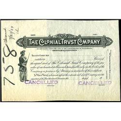 The Colonial Trust Company Proof.