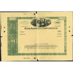 BankAmerica Corporation Stock Production File,