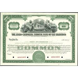Anglo California Nationial Bank of San Francisco S