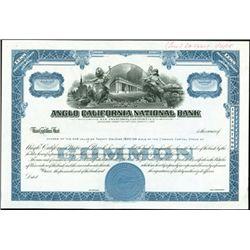 Anglo California National Bank Stock Production Fi