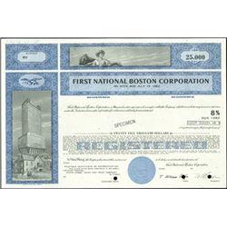 First National Boston Corporation Bonds