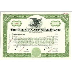 First National Bank of Maryland Stock Certificates
