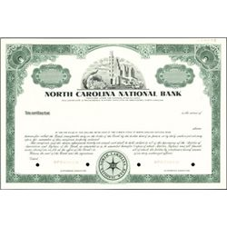 North Carolina Banking Stock Specimens