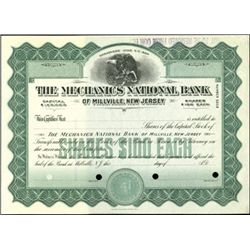 New Jersey National Bank Stock Certificate Specime