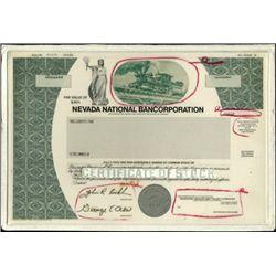 Nevada National Bancorporation Stock Production Fi