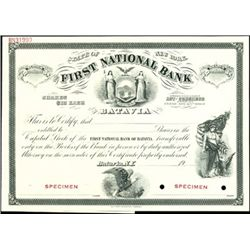The First National Bank of Batavia,