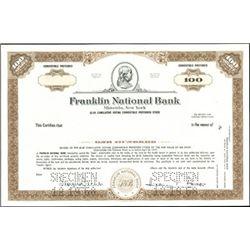 Franklin National Bank Stock Specimens (3),
