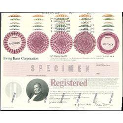 Irving Bank Corp. Registered Bond Assortment,