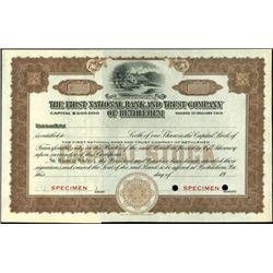 Pennsylvania National Bank Certificates,