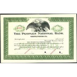 Pennsylvania National Bank Stock Pair (2),