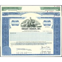 Knight-Ridder Publishing and Media Certificates