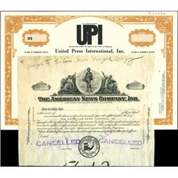 Newspaper Certificates (2),
