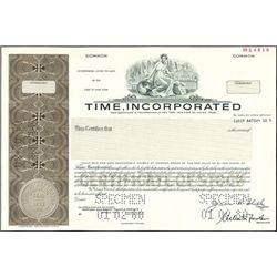 Time, Incorporated Stock Certificate group