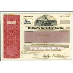 Highland Superstores, Inc. Production File with Pr