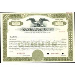 "Oneida Ltd. ""Formerly Oneida Community Limited"" St"