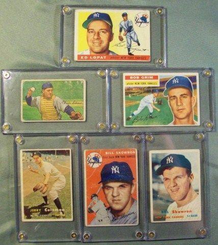 1955 Topps #109 Ed Lopat New York Yankees Baseball Card Honkbal