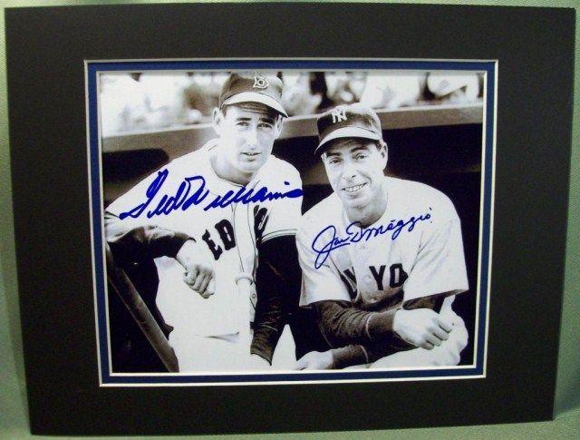 12f0f68df91 Image 1   Autographed Ted Williams Joe DiMaggio Photo w COA ...