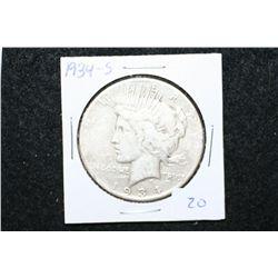 1934-S Peace $1