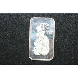 1974 Irving Mint Silver Ingot; .999 Fine Silver 1 Oz.; Riverside CA