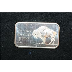 1976 America Bicentennial Silver Ingot; .999 Fine Silver 1 Oz.