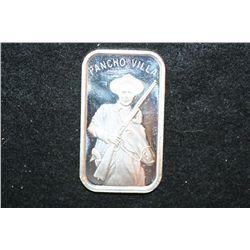 Pancho Villa Silver Ingot; .999 Pure Silver 1 Oz.