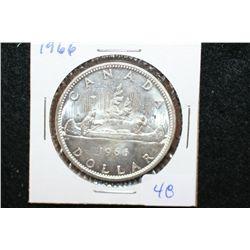 1966 Canada  Canoe  $1 Foreign Coin