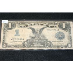 1899 US Silver Certificate $1; Blue Seal, Large Eagle Bill