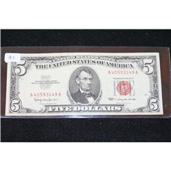 1963 United States Note $5; Red Seal