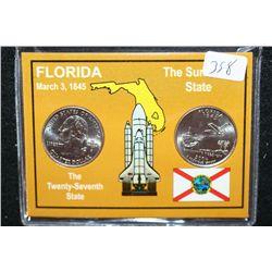 2004 Florida State Quarter Set; P&D Mints