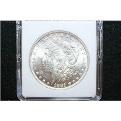 1881-O Silver Morgan $1; MCPCG Graded MS61