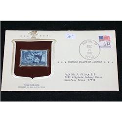 1987 Historic Stamps of America; Texas Statehood December 29, 1945 Austin TX