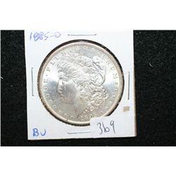 1885-O Silver Morgan $1; BU