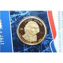 2007-S US John Adams Presidential $1 Coin; Proof