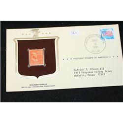 1988 Historic Stamps of America; Benjamin Franklin May 19, 1938 Philadelphia PA
